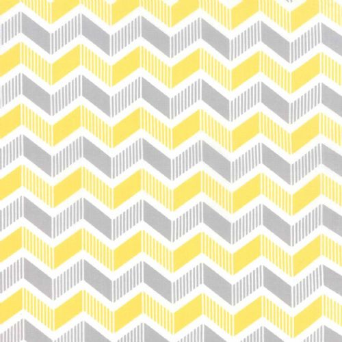 Moda - Mixologie Chevron (Banana/Steel) Fabric